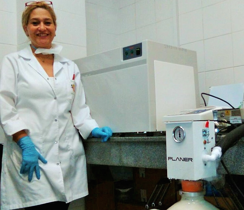 Planer controlled freezer installed at the Clinicas Hospital in Paraguay