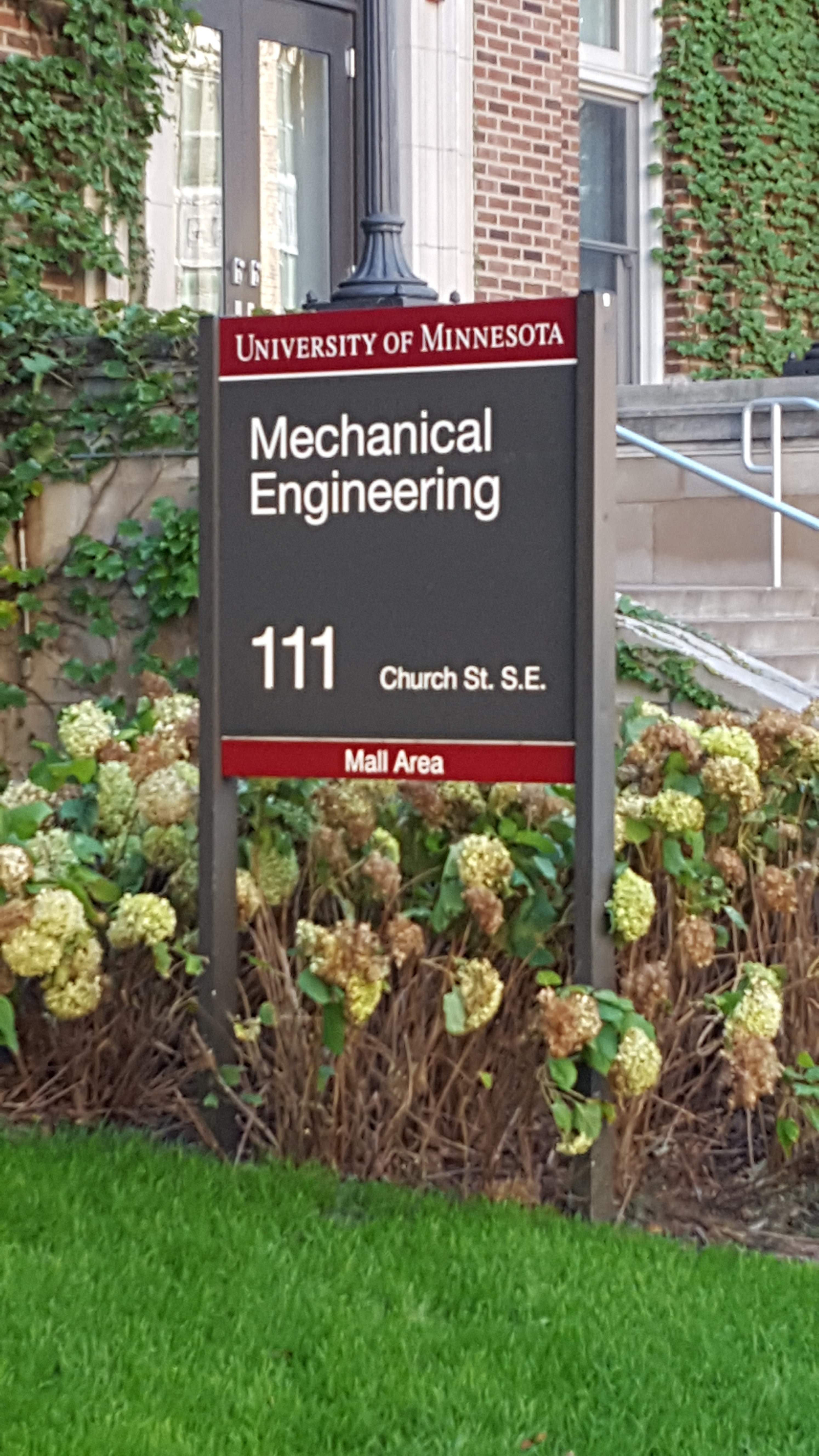 Department of Mechanical Engineering University of Minnesota